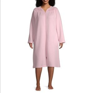 New Plus Size Womens Knit Knee Length Robe